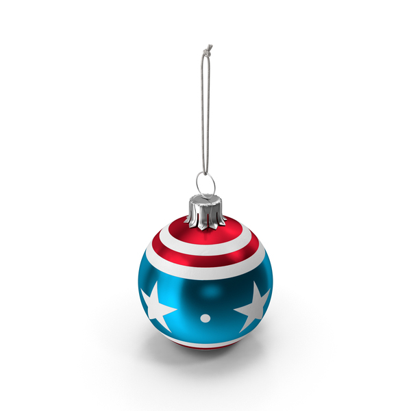 Christmas American Ball Flag PNG & PSD Images