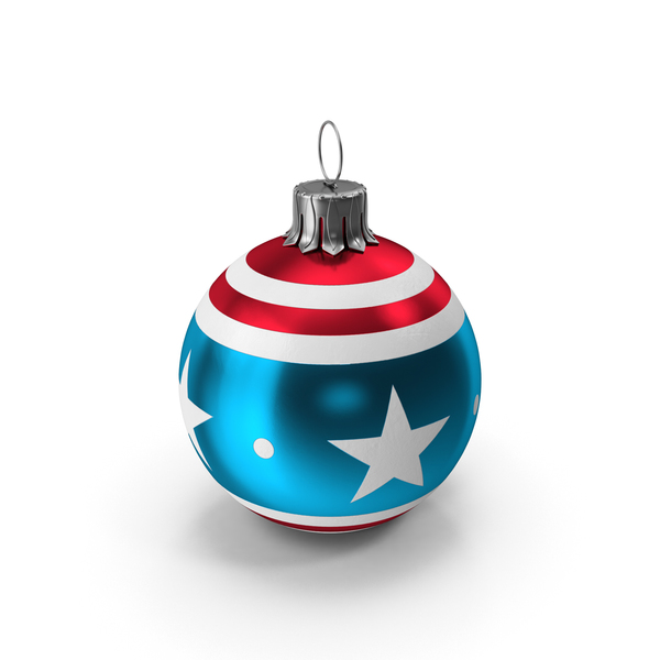 Christmas Ball American Flag PNG & PSD Images
