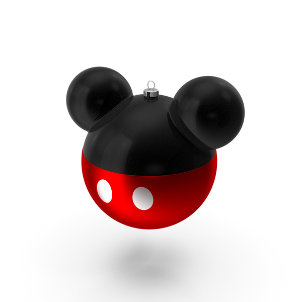 Ornament: Christmas Ball Mickey Mouse PNG & PSD Images