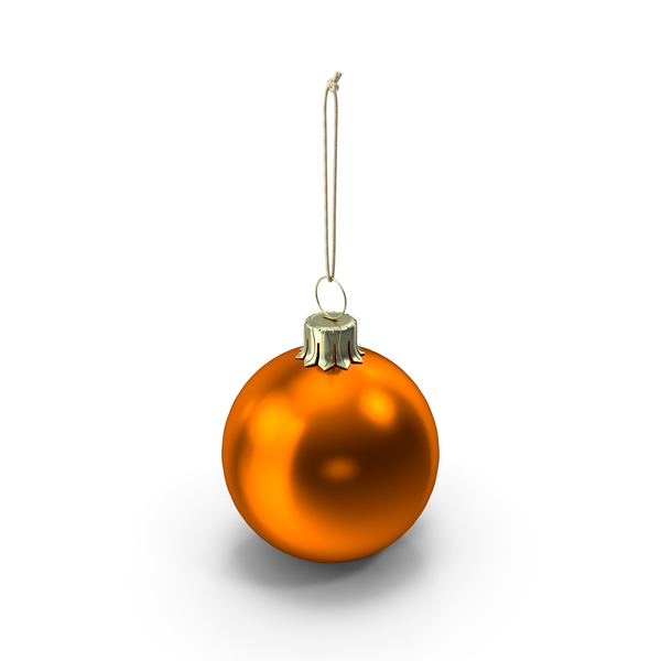 Christmas Ball Orange PNG & PSD Images
