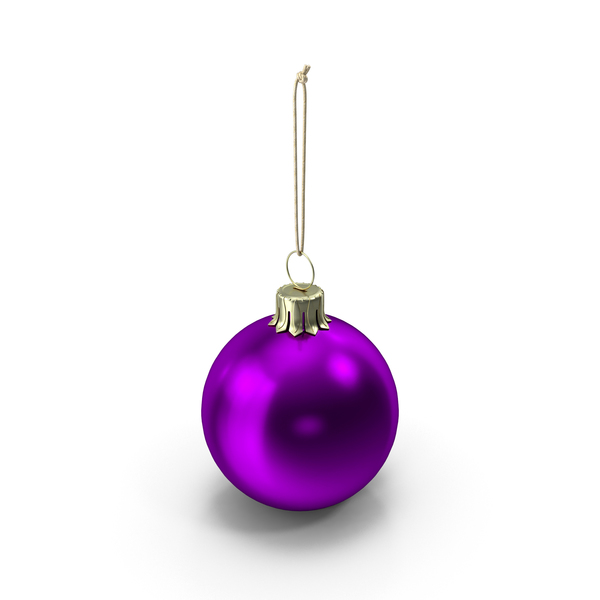 Christmas Ball Purple PNG & PSD Images