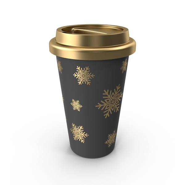 Christmas Coffee Cup Gold PNG & PSD Images
