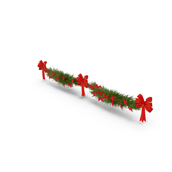 Christmas Garland with Bows PNG & PSD Images