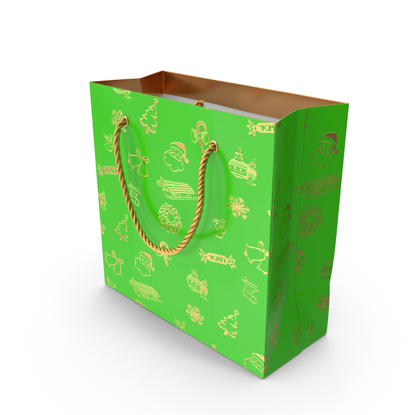 Christmas Gift Bag PNG & PSD Images