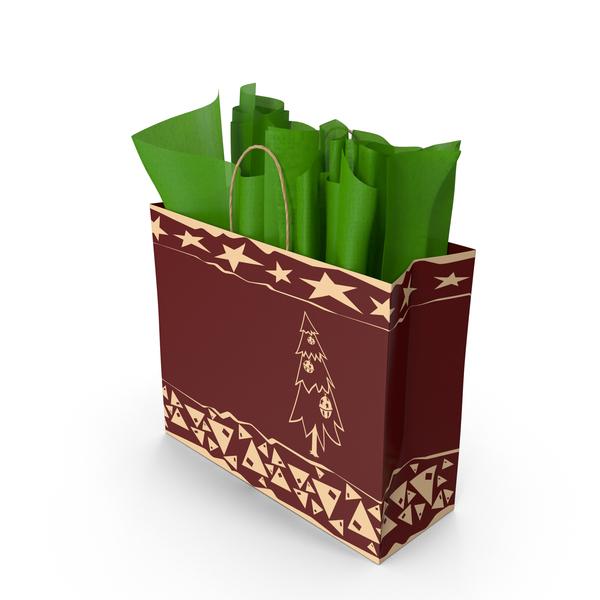 Christmas Gift Bag PNG & PSD Images