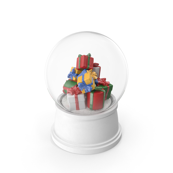 Christmas Gifts Snow Globe PNG & PSD Images