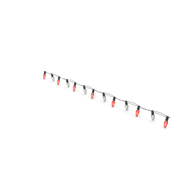 Stringed: Christmas Lights Straight Line On PNG & PSD Images