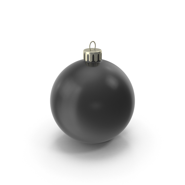 Christmas Ornament Black PNG & PSD Images
