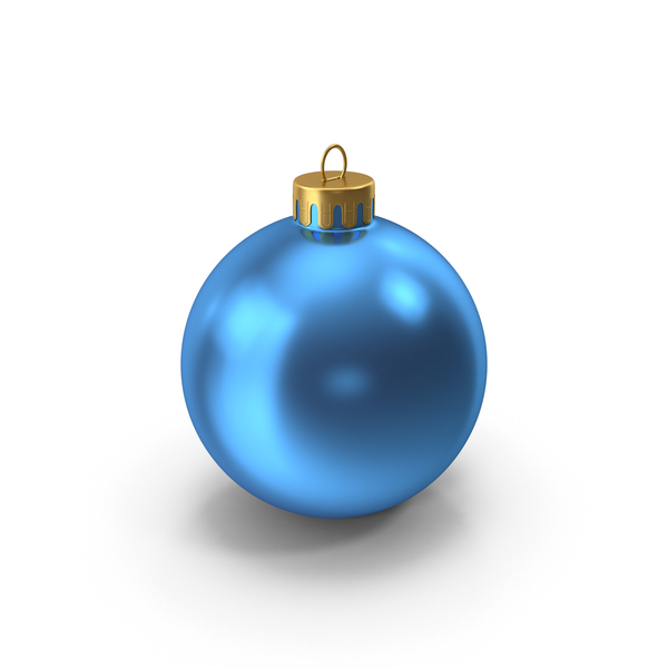 Christmas Ornament Blue Gold PNG & PSD Images