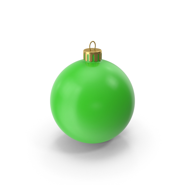 Christmas Ornament Green PNG & PSD Images