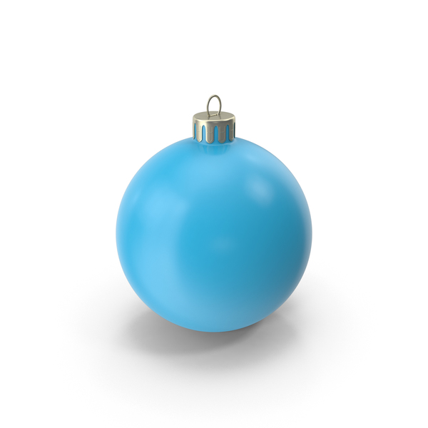 Christmas Ornament Light Blue PNG & PSD Images