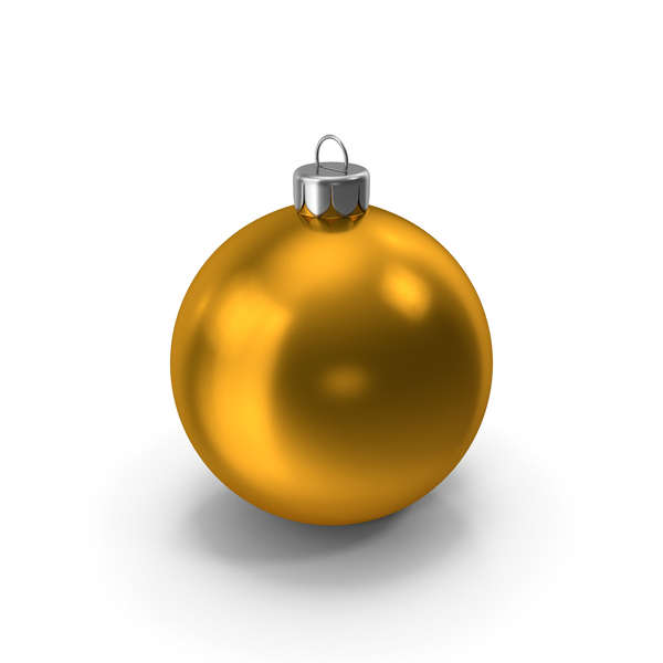 Ball: Christmas Ornament Orange PNG & PSD Images