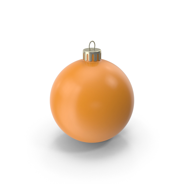 Christmas Ornament Orange PNG & PSD Images