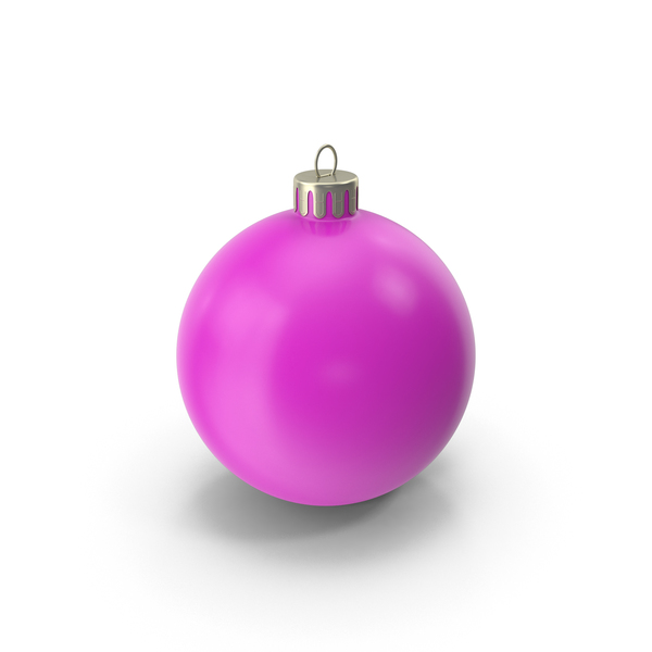 Christmas Ornament Pink PNG & PSD Images