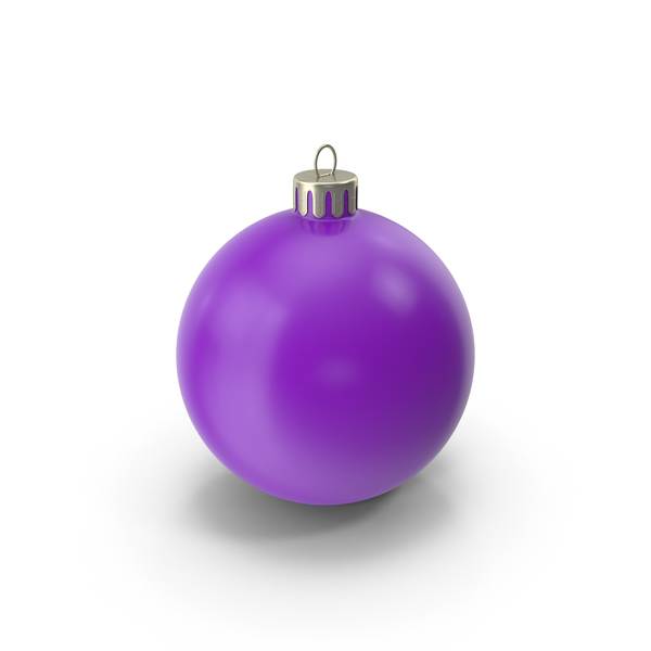 Christmas Ornament Purple PNG & PSD Images