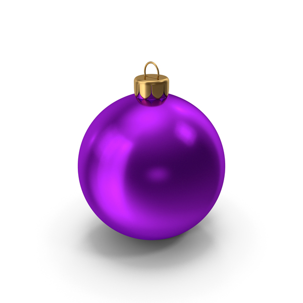 Ball: Christmas Ornament Purple PNG & PSD Images