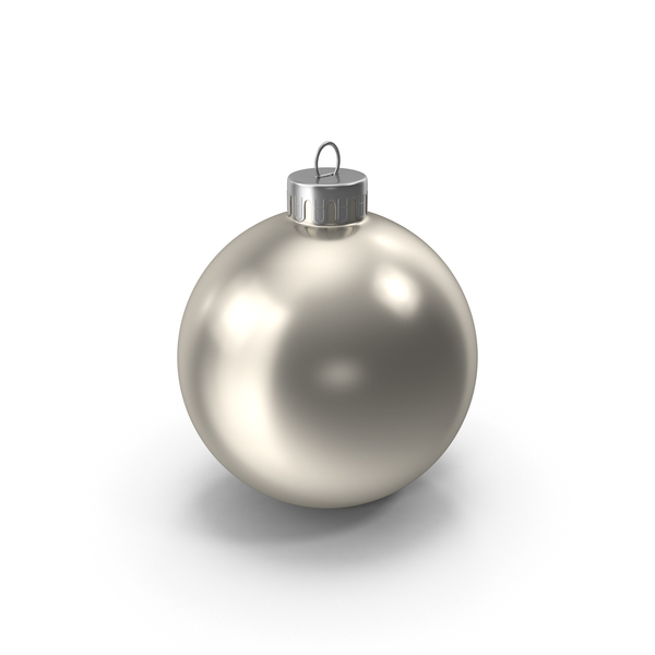 Christmas Ornament Silver PNG & PSD Images