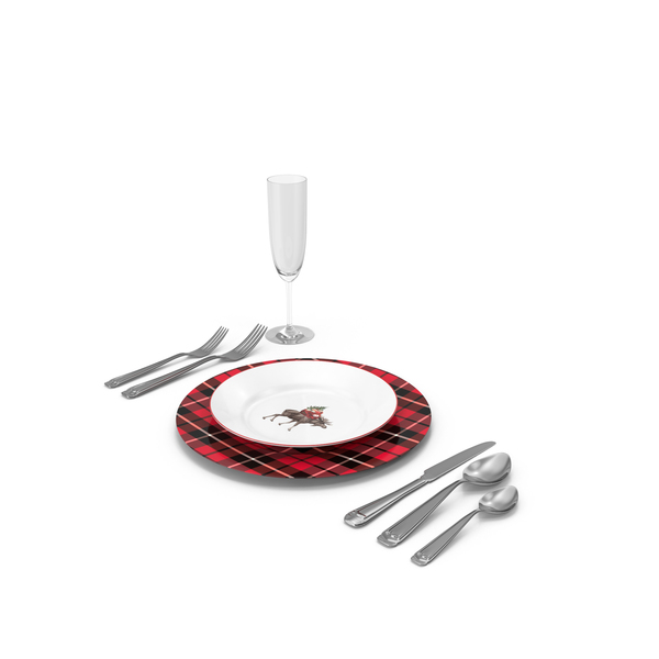 Christmas Place Setting PNG & PSD Images