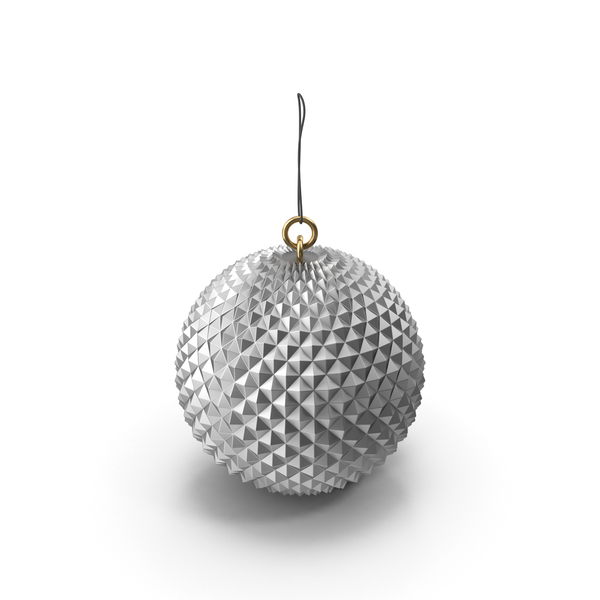Christmas Silver Ornament PNG & PSD Images