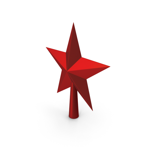 Christmas Star Golden Red PNG & PSD Images