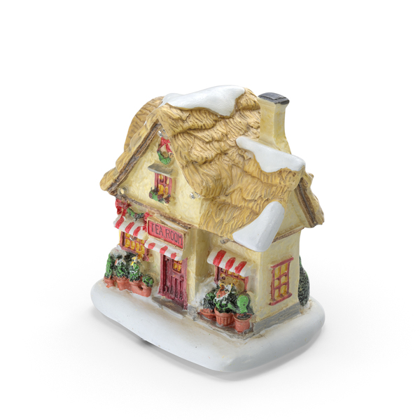 Christmas Tea House Decoration PNG & PSD Images