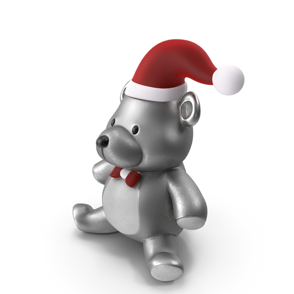 Christmas Teddy Bear Steel PNG & PSD Images