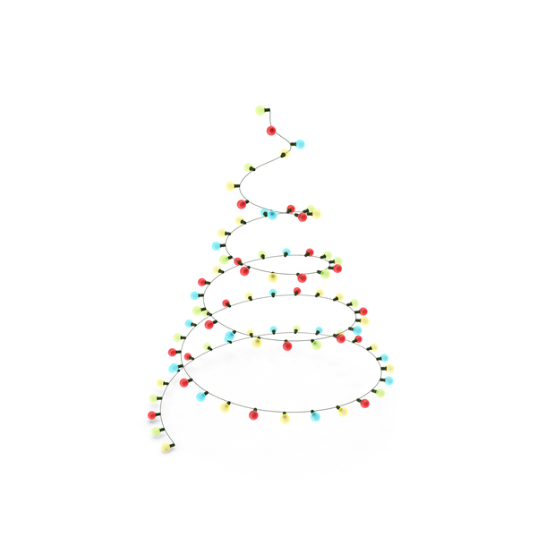 Christmas Tree Garland PNG & PSD Images