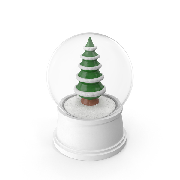 Snowglobe: Christmas Tree Snow Globe PNG & PSD Images