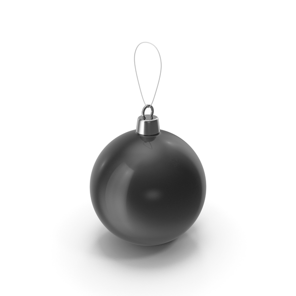 Christmas Tree Toy Black PNG & PSD Images