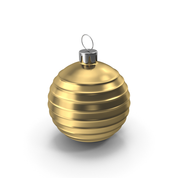 Ornament: Christmas Tree Toy Gold PNG & PSD Images