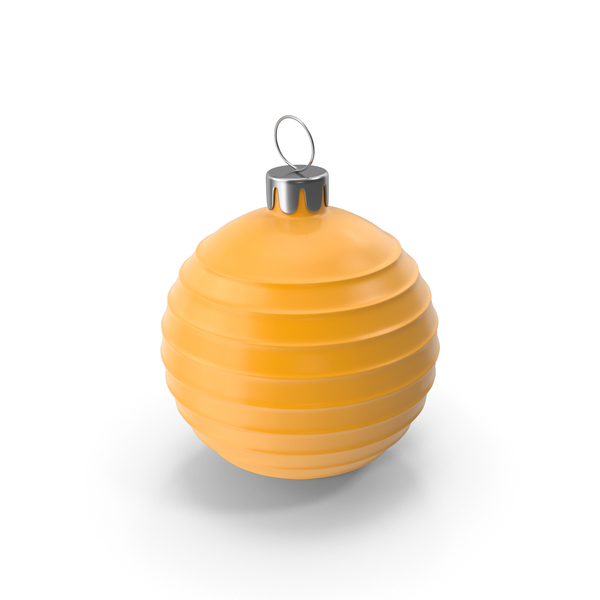 Christmas Tree Toy Orange PNG & PSD Images
