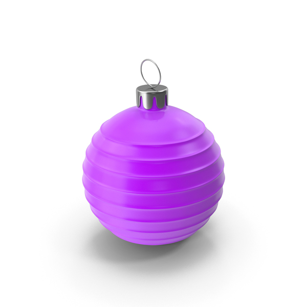 Ornament: Christmas Tree Toy Purple PNG & PSD Images