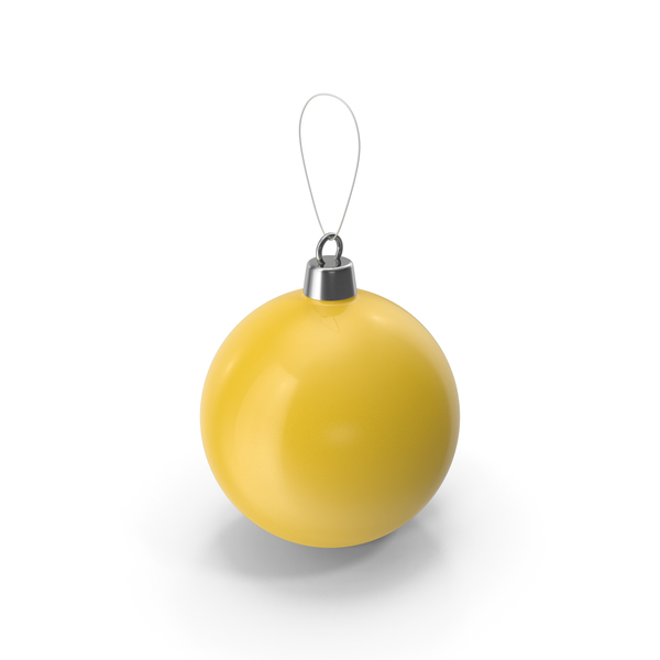 Holiday Accessories: Christmas Tree Toy Yellow PNG & PSD Images