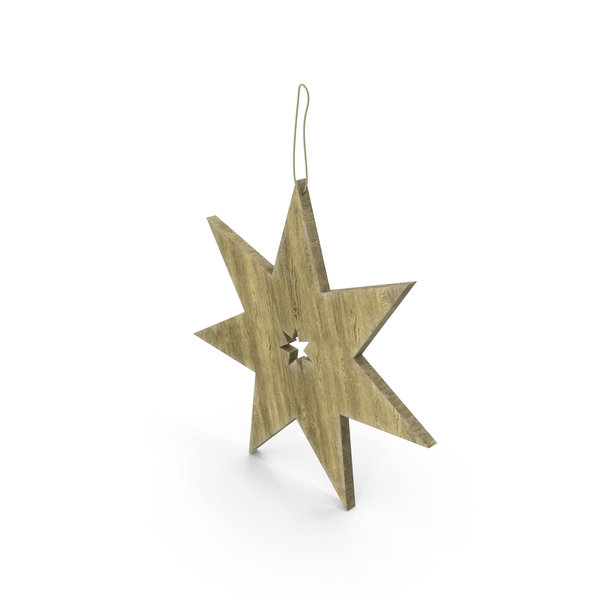Christmas Wood Star PNG & PSD Images
