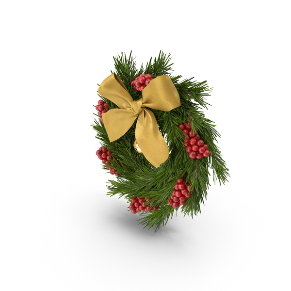 Christmas Wreath With Bells PNG & PSD Images
