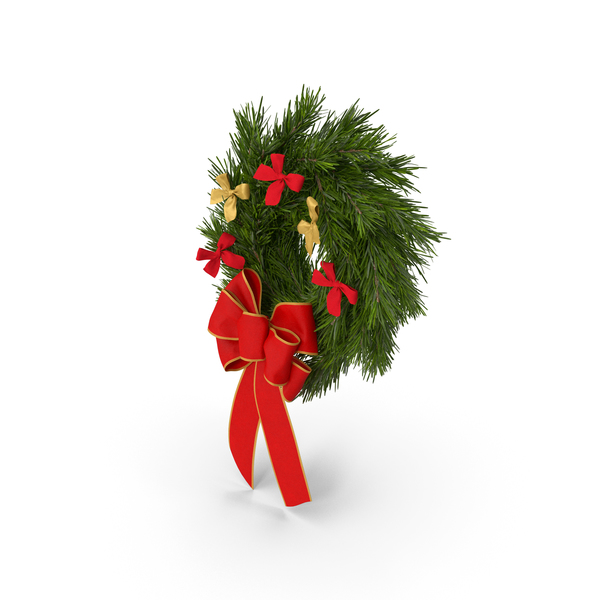 Christmas Wreath with Bows PNG & PSD Images
