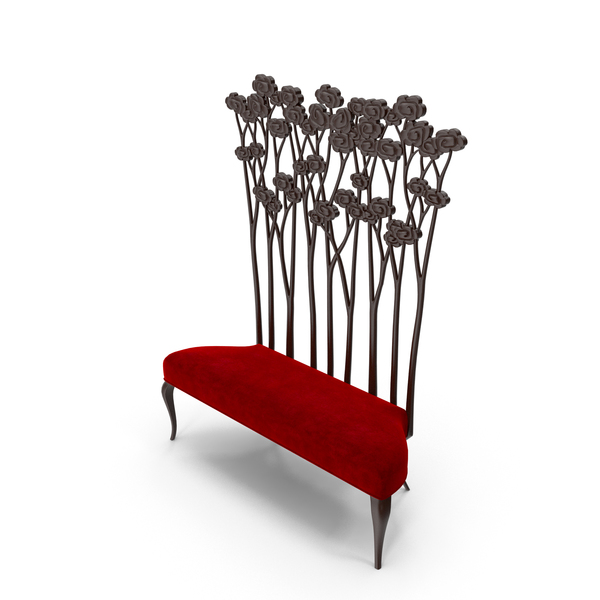 Christopher guy Chair Le Jardin Art deco High Back Bench PNG & PSD Images