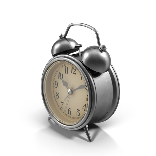 Chrome Alarm Clock Object