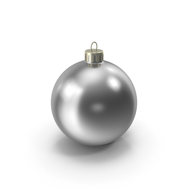 Chrome Christmas Ornament PNG & PSD Images