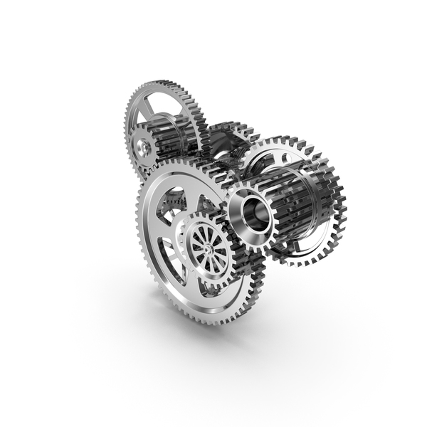 Clock: Chrome Clockwork Mechanism PNG & PSD Images