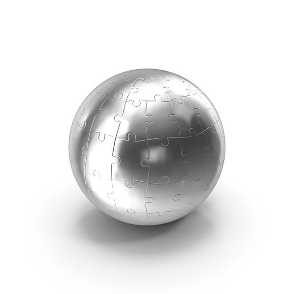 Chrome Globe Puzzle PNG & PSD Images