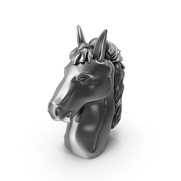 Chrome Horse Head PNG & PSD Images