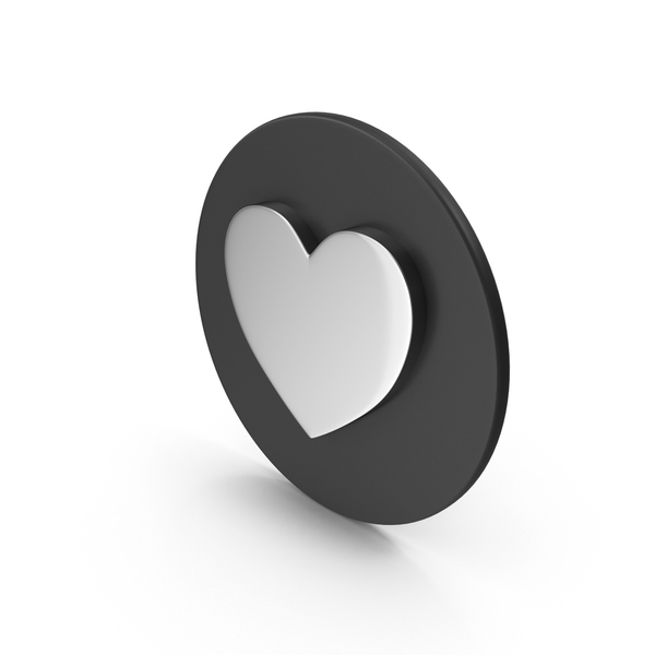 Heart Shape: Chrome Love Icon PNG & PSD Images