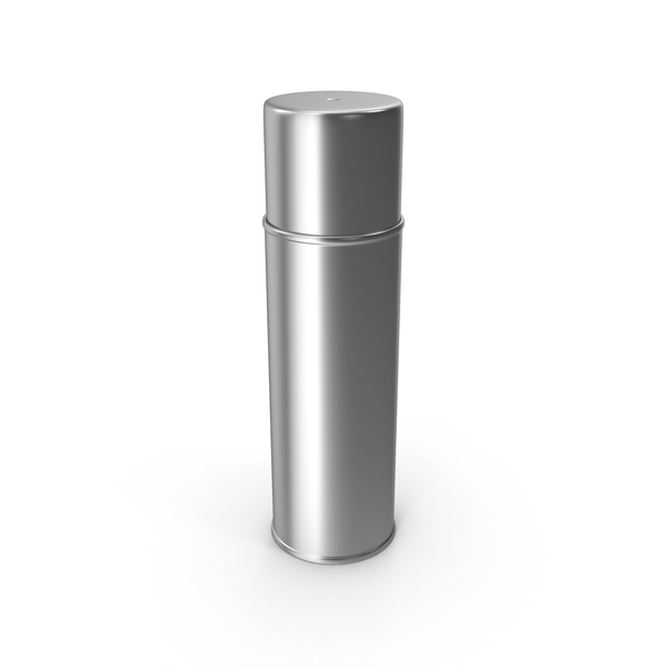 Chrome Spray Paint Can PNG & PSD Images