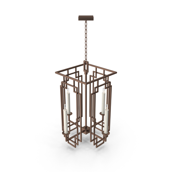 Cienfuegos Semi Flush Iron Chandelier PNG & PSD Images