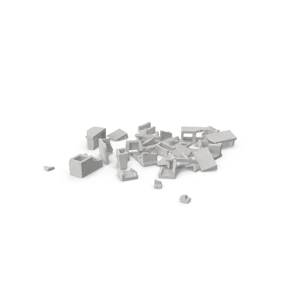 Debris: Cinder Blocks Broken PNG & PSD Images