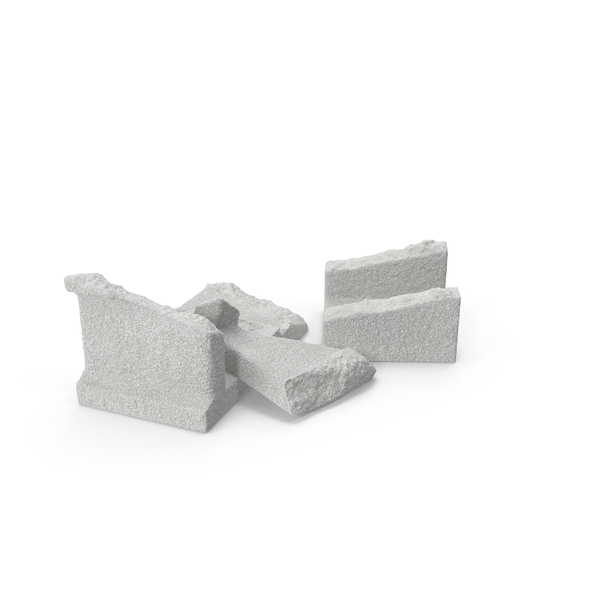 Cinder Blocks Broken Object