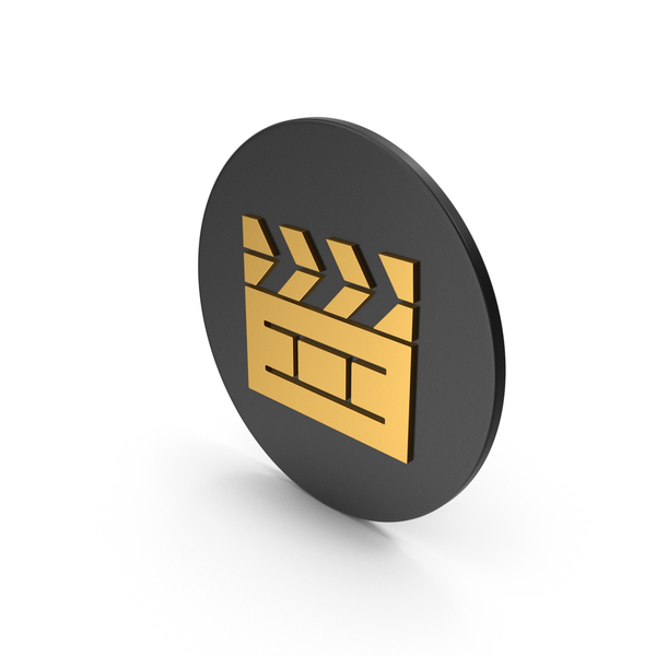 Computer: Cinema Movie Gold Icon PNG & PSD Images