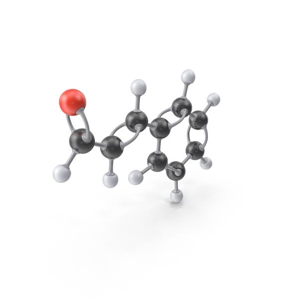 Cinnamaldehyde Molecule PNG & PSD Images