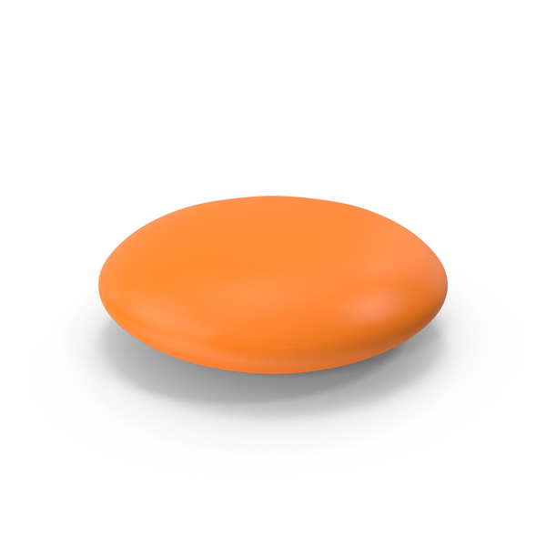 Circle Tablet Orange PNG & PSD Images